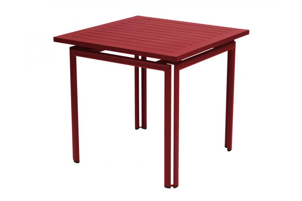 Table carr e costa fermob - Table jardin carree calais ...