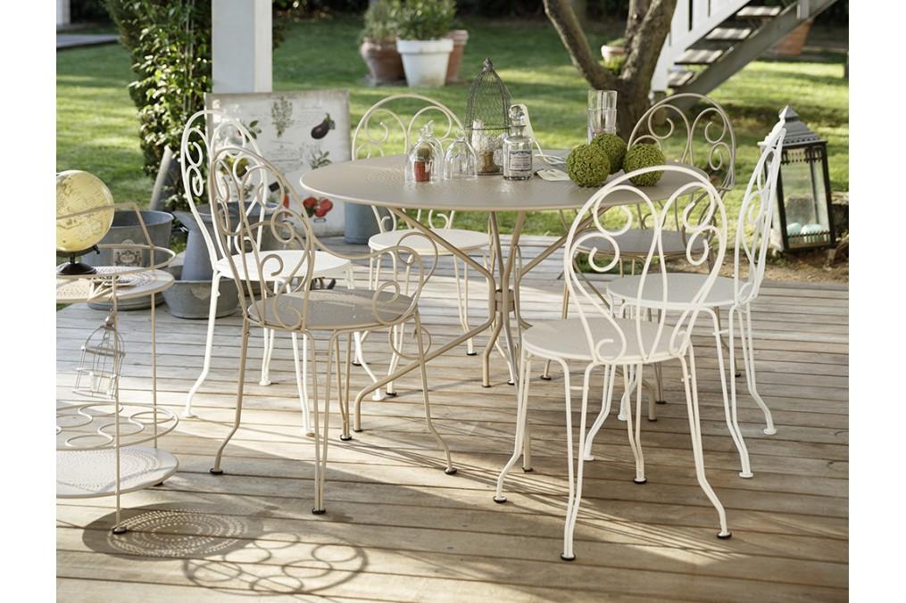Table Montmartre FERMOB diam 96 cm - Latour Mobilier de jardin