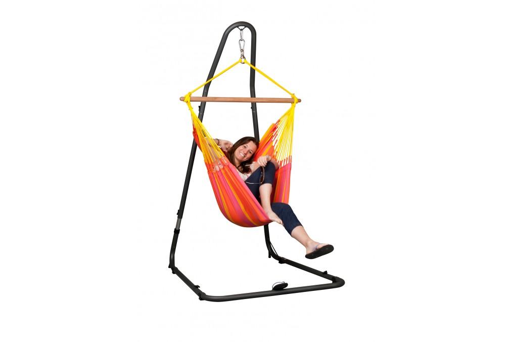support pour chaise hamac basic mediterraneo la siesta. Black Bedroom Furniture Sets. Home Design Ideas