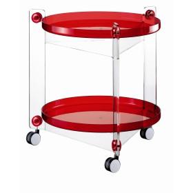 table roulante rouge guzzini