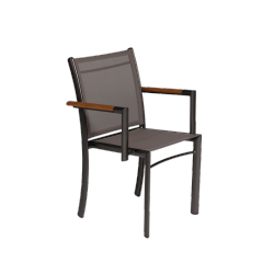 Fauteuil Empilable Rivage Manganese/Cendre Triconfort