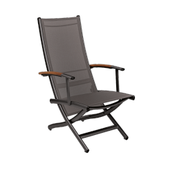 Fauteuil Multiposition Rivage Manganese/Cendre Triconfort