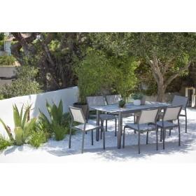 Table Ticao extensible 145/185x75cm Les Jardins