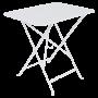 Table Bistro FERMOB Métal 77 x 57 cm Blanc Coton
