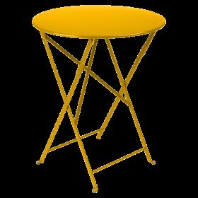Table Bistro FERMOB Métal diam 60 Miel