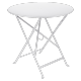 Table Bistro FERMOB Métal diam 77 cm Blanc Coton