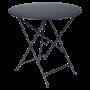 Table Bistro FERMOB Métal diam 77 cm Carbone