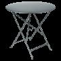 Table Bistro FERMOB Métal diam 77 cm Gris Orage