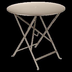 Table Bistro FERMOB Métal diam 77 cm Muscade