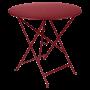 Table Bistro FERMOB Métal diam 77 cm Piment