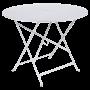 Table Bistro FERMOB Métal diam 96 cm Blanc Coton