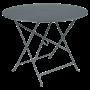 Table Bistro FERMOB Métal diam 96 cm Gris Orage