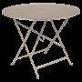Table Bistro FERMOB Métal diam 96 cm Muscade