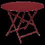 Table Bistro FERMOB Métal diam 96 cm Piment