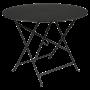 Table Bistro FERMOB Métal diam 96 cm Réglisse