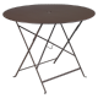 Table Bistro FERMOB Métal diam 96 cm Rouille