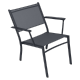 Fauteuil Bas Costa FERMOB Carbone