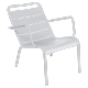 Fauteuil bas luxembourg FERMOB Blanc coton