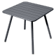 Table Luxembourg 80 x 80 cm FERMOB carbone