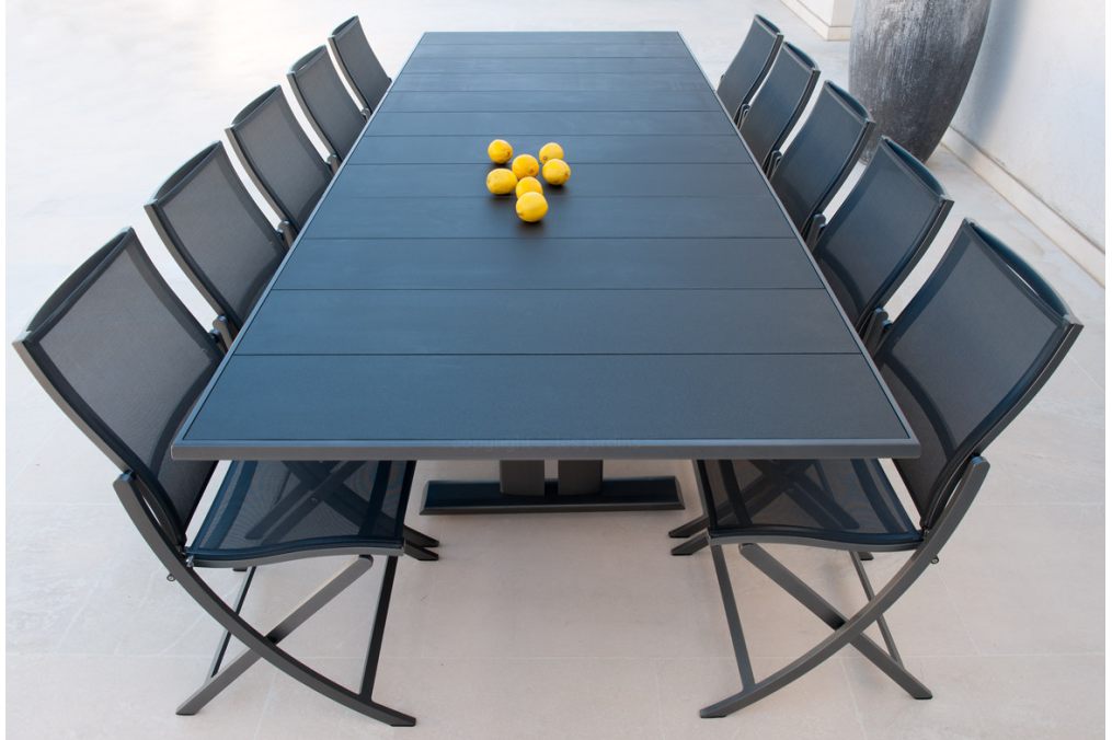 Table extensible 190/285x105 plateau Latté Koton LES JARDINS