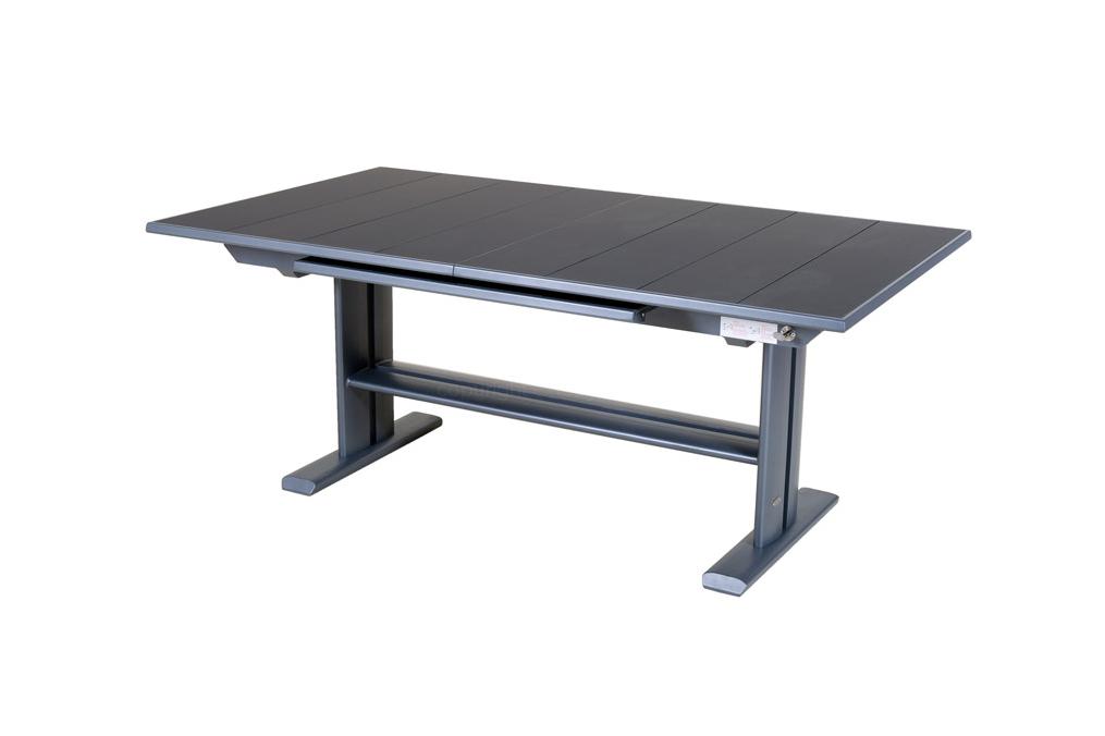Table extensible 190 285x105 plateau latt koton les jardins for Plateau table extensible