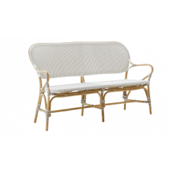 Banc Isabelle blanc et points cappuccino Sika Design