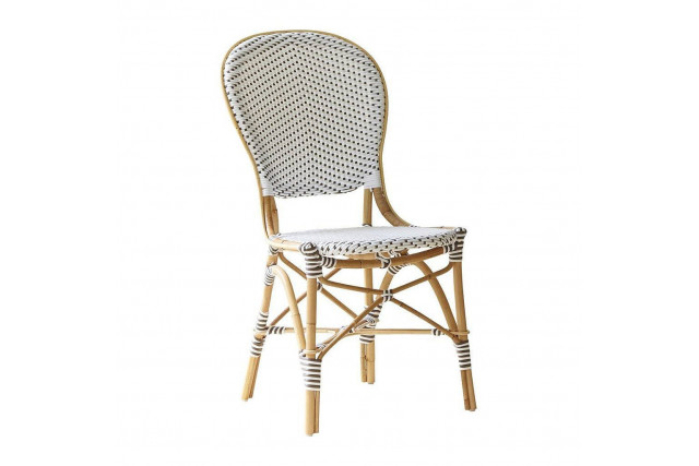 Chaise bistro Isabelle blanche et points cappuccino Sika Design