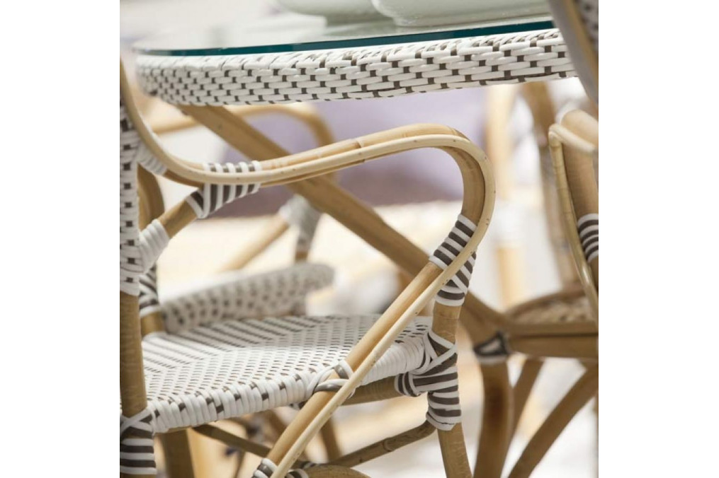 Blanche Points Design Bistro Chaise Cappuccino Sika Isabelle Et drxeWBCo