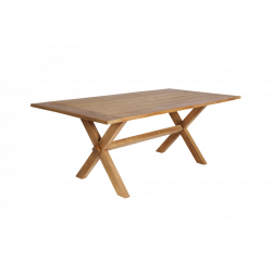 Table Colonial en teck ajouré 200x100 Sika Design