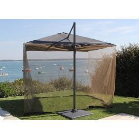 Moustiquaire de parasol déporté3 x 3 m Proloisirs