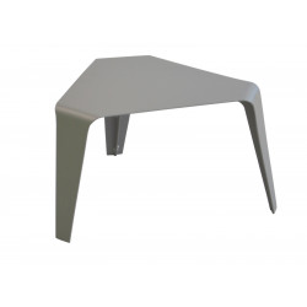 Table basse Azur 46x46cm / Taupe - Océo