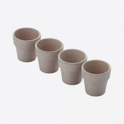 Set de 4 coquetiers Bambou Point Virgule