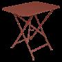 Table Bistro FERMOB Métal 77 x 57 cm Gris orage