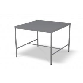 Table mi-hauteur Rivage Aluminium Basalte 85*85 Vlaemynck