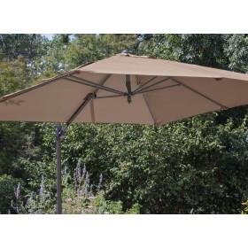 Toile pour parasol déporté 3*3 Taupe Polyester PROLOISIRS