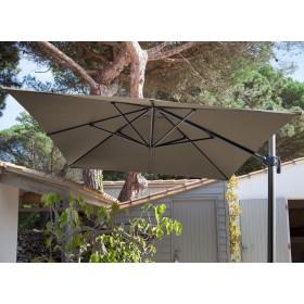 Toile pour parasol déporté 3*4 Taupe Polyester PROLOISIRS