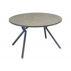 Table Loane D150*H74 Alu Taupe HPL Luna OCEO