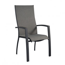 Fauteuil Elegance Haut Dossier Empilable Alu Grey/GM OCEO