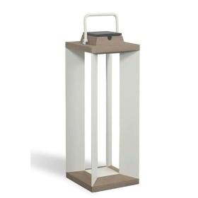 Lampe Solaire Teckalu à LED Alu Blanc Duratek H65 LES JARDINS