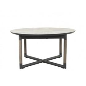 Table ronde extensible Bastingage 146/206x146cm - LES JARDINS