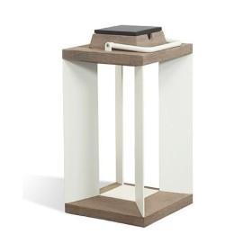 Lampe Solaire Teckalu à LED Alu Blanc Duratek H45.5 LES JARDINS