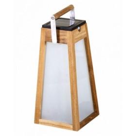 Lanterne solaire en teck TECKA H38 cm- LES JARDINS