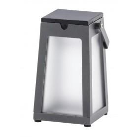 Lanterne solaire Tinka Alu Gris Espace New 300 Lumens - LES JARDINS