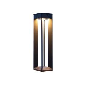 Borne solaire LED Alu Gris Espace 500 Lumens H.45 LES JARDINS