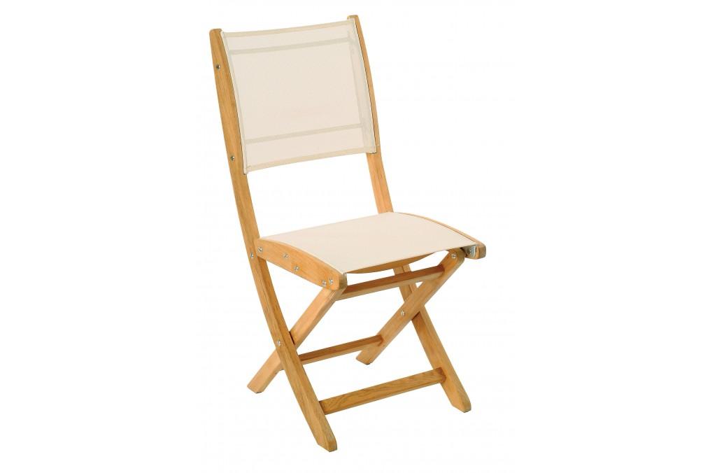 Chaise pliante sillage jardins au bout du monde ecru for Au bout du jardin