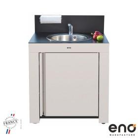 Module de cuisine évier HPL noir /INOX - ENO