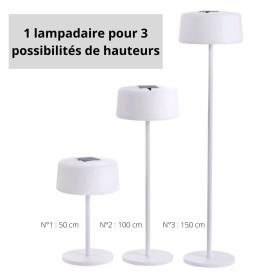 LAMPADAIRE ROTOMOULÉ FLORA ALU ANTHRACITE Les Jardins