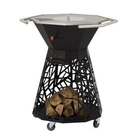 Brasero / barbecue Inox design à bois - FAVEX