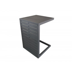 Table basse Lou Side 2 positions 57*40*40 Aluminium Grey OCEO
